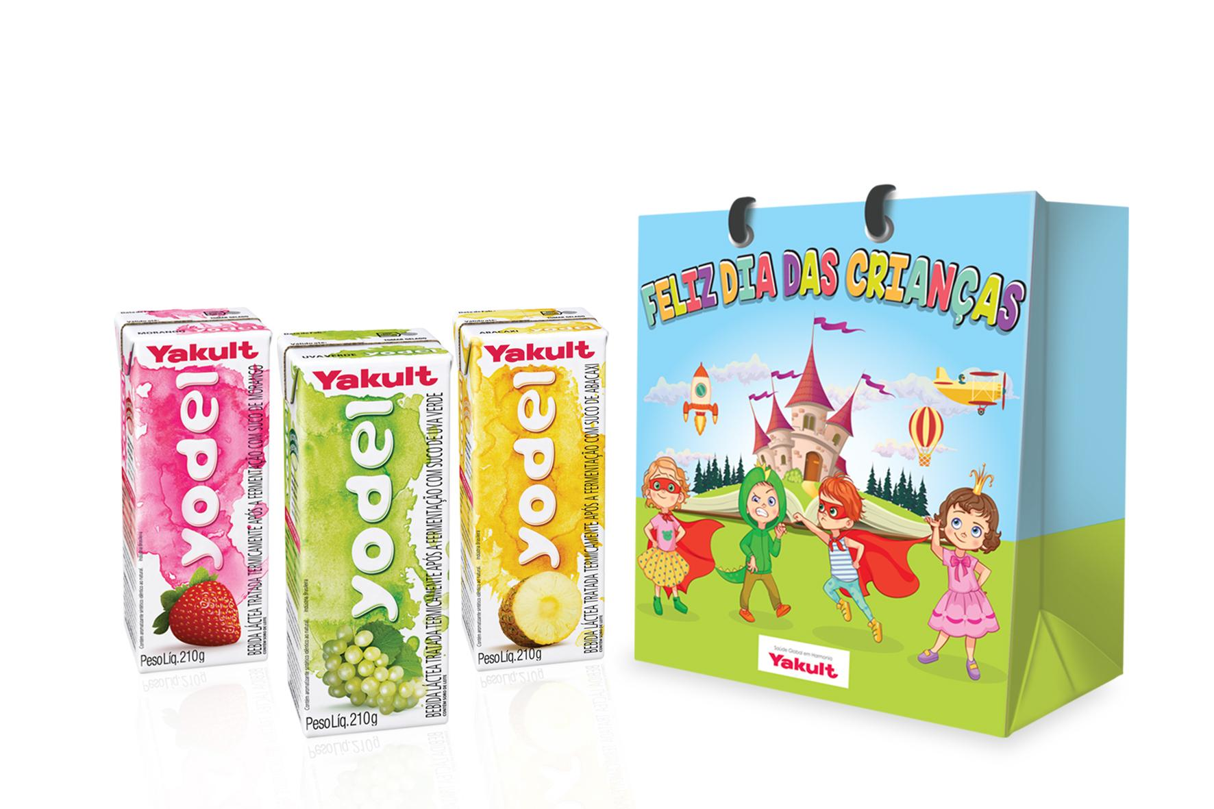 Kit Yodel é destaque da campanha de vendas da Yakult para o dia das crianças