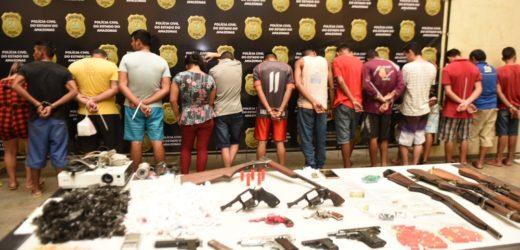 Mais de 700 armas já foram apreendidas em Manaus este ano