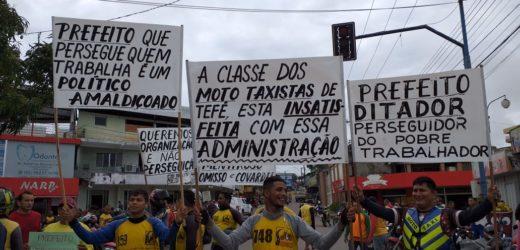 Mototaxistas acusam prefeito de Tefé de perseguição