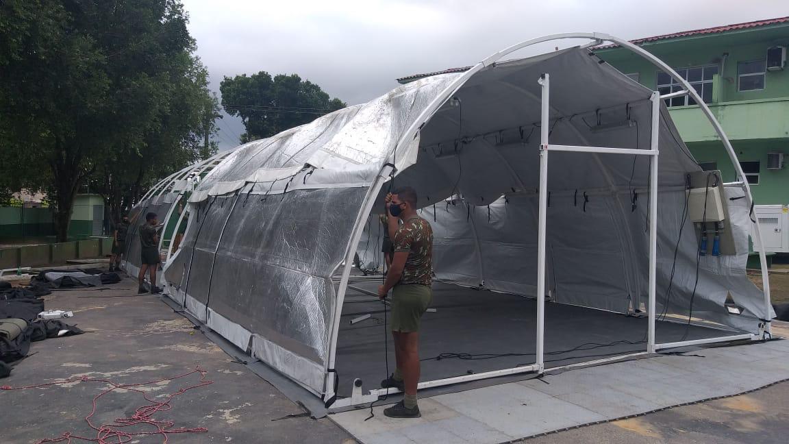 EXCLUSIVO: Exército monta hospital de campanha no Amazonas em menos de 24h