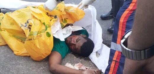 Homicídio atrás da antiga penitenciária Raimundo Vidal no centro de Manaus